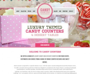 Candy Counters website design