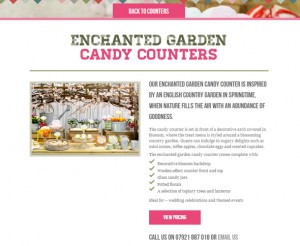 Candy Counters web design