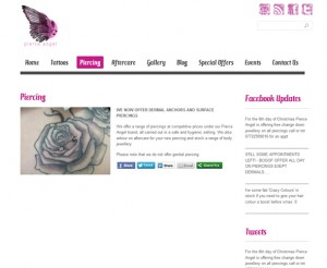 Blue Dog Tattoos Wordpress website