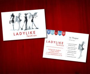 Ladylike Fashion business cards