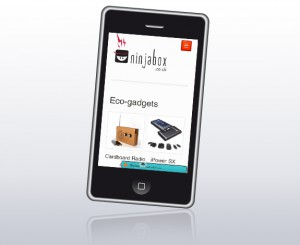 Ninjabox mobile site
