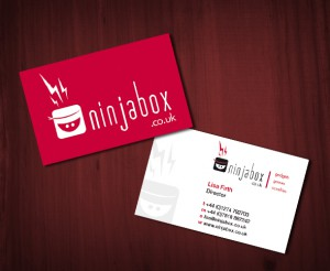 Ninjabox business card design
