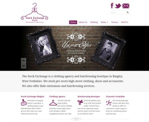 Stock Exchange Bingley website design